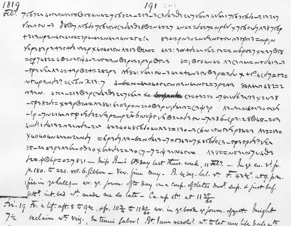 Anne Lister's secret code